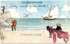 BELLEVILLE ON – Why Ain't You Wrote Comic Postcard - 1913