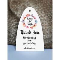 Wedding Gift TagsWedding Favour TagsPersonalised TagsFloral Arc 1