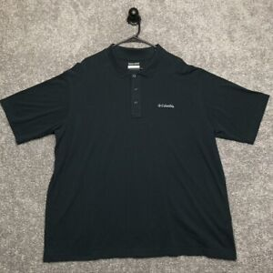 Columbia Polo Shirt Adult Size 3XL Black Short Sleeve Casual Mens