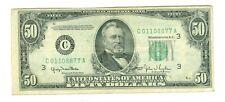 1950 $50 RARE Mule 1934 Back + Shifted Print Error Philadelphia Federal Reserve