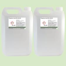 Phosphoric Acid 85% ACS Food Grade Rust Remover 2 x 5 Litre (10L)