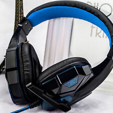 3.5mm Gaming Game Headset USB Mic LED Headphone Stereo Surround for PC Laptop