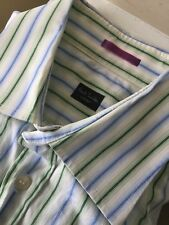 Paul Smith London Men's Multicolor Striped Shirt Size 16.5/42 Made In Italy L/S