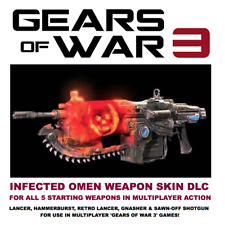 GEARS OF WAR 3 INFECTED OMEN WEAPON PACK DLC 5 BONUS WEAPON SKINS FOR GOW3 RARE