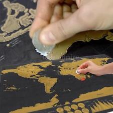Creative Deluxe Scratch Off World Map Poster Journal Log Giant Map World Sticker