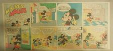 Mickey Mouse Sunday Page by Walt Disney from 8/1/1943 Third Page Size