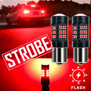 1156 7506 7527 Red Strobe/Flashing Blinking Lamp for Audi BMW Brake Tail Light