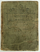 Webster's -vintage 1877- Handy Dictionary LOOMIS J CAMPBELL -small, illustrated!