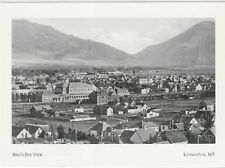 "*Postcard-""The Birds-Eye View"" /From North of Town/ *Livingston, MT (A64-1)"