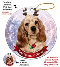 Cocker Spaniel Dog Christmas Holiday Ornament Up To Snow Good