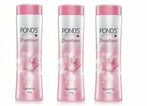 (3 Pack) POND'S Dreamflower Fragrant Talc,(100 gm / 3.52 oz)