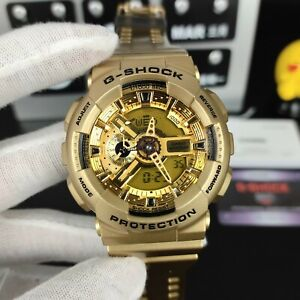NEW G-Shock GA110-GD9A Men's Watch Digital Dial Gold Men's Watch