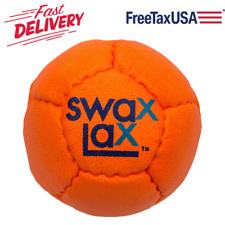Soft Lacrosse Training Ball - Less Bounce Practice Ball for Indoor Gym (Orange)