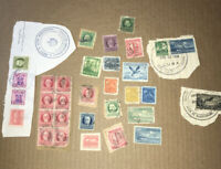 Small Lot of 1900's Used Caribbean Island Postage Stamps - Unsorted Mixed Stamps