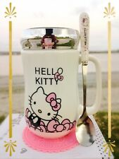Hello Kitty Cute Ceramic Cup Soda Tea Milk Coffee Mug c/w Spoon & Coasters 500ML