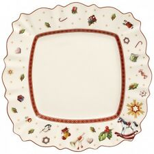 Villeroy & Boch TOY'S DELIGHT White Square Dinner Plate- New Design  11 x 11