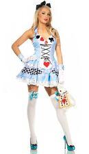 Onorevoli Alice nel Paese delle Meraviglie Costume Donna Favola Costume storia libro