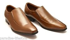 Mens Slip-on Shoes Leather Formal Evening White Casual Dress Black Boots Sizes