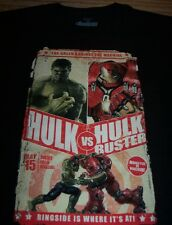 Marvel Comics IRON MAN Vs THE INCREDIBLE HULK Fight Poster T-Shirt XL NEW