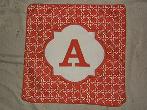 """THRESHOLD Monogram Pillow Cover - 18"""" x 18"""" Cotton - Choice of Color & Initial"""