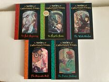 A Series of Unfortunate Events by Lemony Snicker  books 1-5