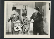 LAUREL & HARDY PHOTO - 1944 THE BIG NOISE - WWII BOMB INVENTOR - 1960s REPRINT