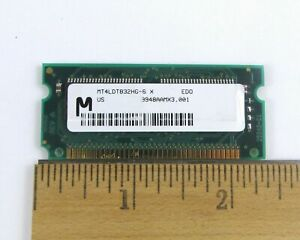 Micron 32MB 72-pin EDO RAM SODIMM Memory Module 3.3V 8Mx32 MT4LDT832HG-6X