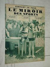 MIROIR SPORTS 1935 N°834 CYCLISME TOUR FRANCE MAGNE SPEICHER FAUCILLE JURA