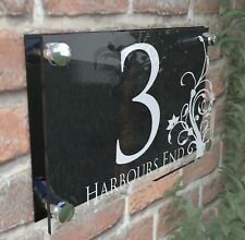 House Door Number Plaque Wall Gate Sign Name Plate Clear Acrylic Dec4-28WB