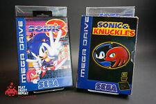 Sega MEGA DRIVE Sonic & Knuckles e SONIC 3 INSCATOLATO COMPLETO PAL VERSIONE UK