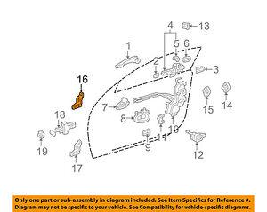 68720-30101 Toyota Hinge assy, front door, upper lh 6872030101, New Genuine OEM