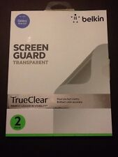 New Belkin Screen Guard Transparent Screen Protector for Galaxy Note 8.0- 2 Pack