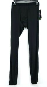 New Hot Chillys Mens Black Peachskin Running Stretch Base Layer Pants Size Small