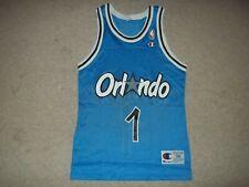 Vintage Champion Anfernee Penny Hardaway Orlando Magic size 36 Blue #1 Jersey