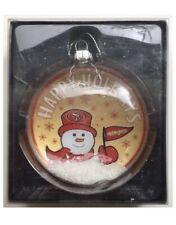 San Francisco 49ers NFL Christmas Tree Snowman Snow Globe Decoration