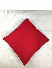 "Plain Cushion Cover 100% Cotton Pillow Case Home Sofa Decor 16""x16"" Red"