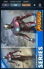 Topps Marvel Collect Avengers Infinity War Concept Series Iron Man #2 200cc
