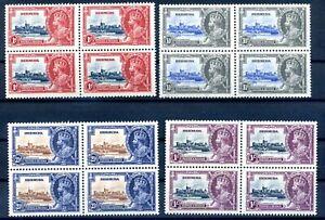 Bermuda 1935 silver jubilee set MNH blocks light even toning