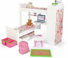 Playtime by Eimmie - 18 Inch Doll Bunk Bed Set w/ Trundle and Accessories