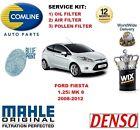 para Ford Fiesta 1.25 2008-2012 Filtro De Polen Aire Aceite Kit de servicio