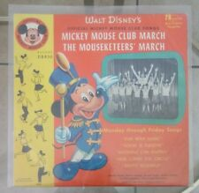 """MICKEY MOUSE CLUB MARCH/THE MOUSEKETEERS' MARCH 10"""" 78rpm DBR50 w/Pic Sleeve"""