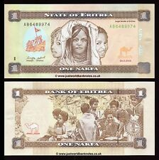 Eritrea 1 Nakfa  2015  New Colour  P-New  UNC