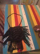 Cut N Paste Black Fringe Leather Purse