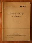 Literature and Life in America MB 122 U.S. Armed Forces War Dept. Manual 1948Original Period Items - 13981