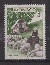 Mónaco, 1958, SG600 TY127 3f sepia y verde, MH..