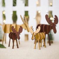 Alces de Navidad Ciervo Adornos de madera Árbol de Navidad Decoración colgante
