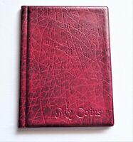 Coin Album Storage Book 108 big and small  Coins Folder  Burgundy 2