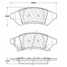Disc Brake Pad-Posi-Quiet Extended Wear Brake Pads with Shims-Preferred Centric