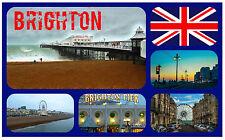 BRIGHTON, EAST SUSSEX - SOUVENIR NOVELTY FRIDGE MAGNET / SIGHTS / FLAG / GIFTS