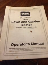 Toro Wheel  Horse 265-6 Owners Manual